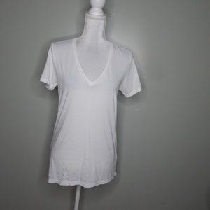everlane women white Supima cotton shirt SZ M